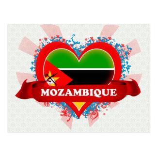 Cartão Postal Vintage eu amo Mozambique