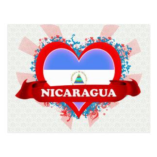 Cartão Postal Vintage eu amo Nicarágua