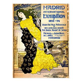 Cartão Postal Vintage: Exposição internacional de Madrid,
