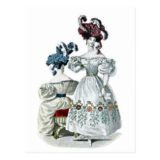 Cartão Postal Vintage: Forma de Paris, 1830