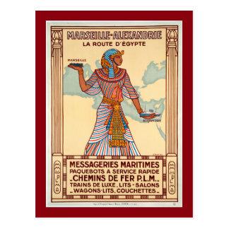 Cartão Postal Vintage France ao poster de viagens de Egipto