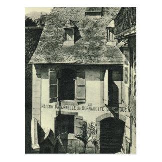 Cartão Postal Vintage France, lugar de nascimento da rua