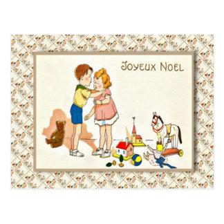 Cartão Postal Vintage France, Natal, eu quero realmente um beijo