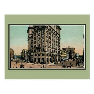 Cartão Postal Vintage Genesee e ruas Siracusa NY do Salina