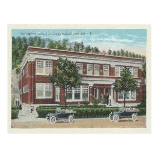 Cartão Postal Vintage Hot Springs Arkansas