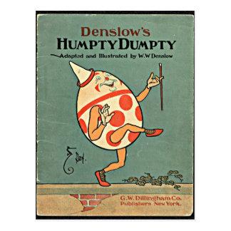 Cartão Postal Vintage Humpty Dumpty
