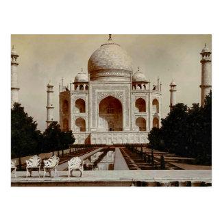 Cartão Postal Vintage India, Taj Mahal