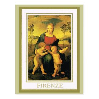 Cartão Postal Vintage Italia, Firenze, galeria de Uffizi