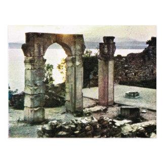 Cartão Postal Vintage Italia,     Sirmione, Garda, ruínas