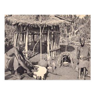 Cartão Postal Vintage Kenya, colônia Kalamando