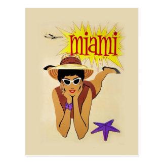 Cartão Postal Vintage Miami Beach
