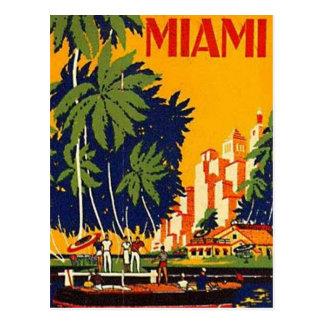 Cartão Postal Vintage Miami, Florida, EUA -