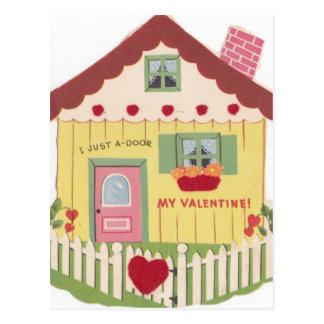 Cartão Postal Vintage mim apenas uma porta você namorados
