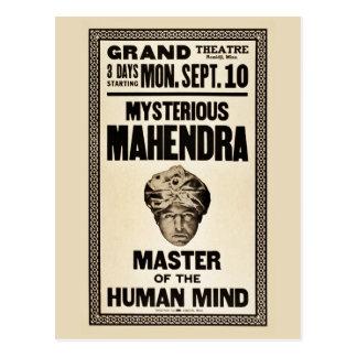 Cartão Postal Vintage misterioso do 1920 do mágico de Mahendra
