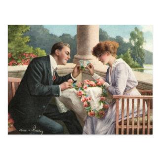 Cartão Postal Vintage mulher senhor, amor e