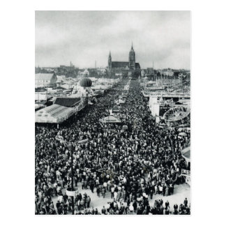 Cartão Postal Vintage Munich, Oktoberfest