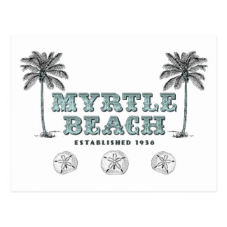 Cartão Postal Vintage Myrtle Beach South Carolina Est 1938
