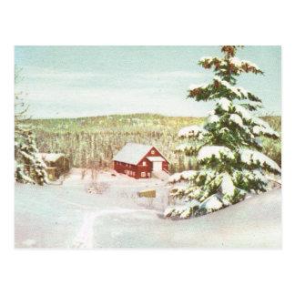 Cartão Postal Vintage Noruega, inverno nas montanhas