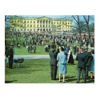 Cartão Postal Vintage Noruega, Oslo, o 12 de maio celebrações