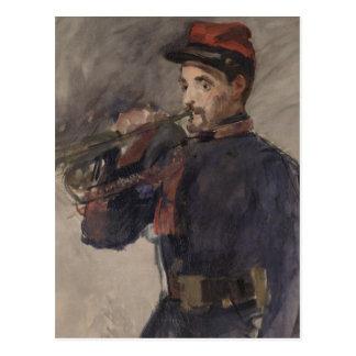 Cartão Postal Vintage o Bugler por Edouard Manet