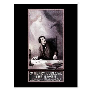 Cartão Postal Vintage o teatro do corvo