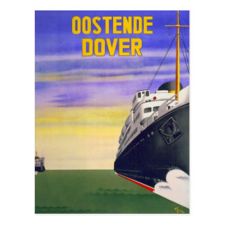 Cartão Postal Vintage Oostende Dôvar