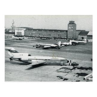 Cartão Postal Vintage os anos 50 do aeroporto de Alemanha,