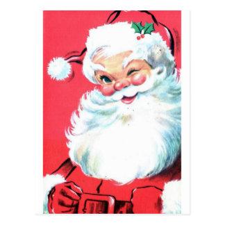 Cartão Postal Vintage Papai Noel