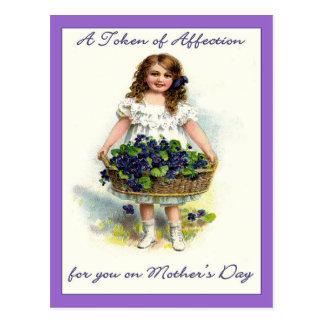 Cartão Postal Vintage para você no dia das mães, símbolo da