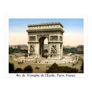 Cartão Postal Vintage Paris France, Arco do Triunfo