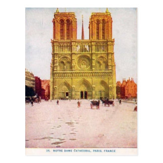 Cartão Postal Vintage Paris, Notre Dame de Paris