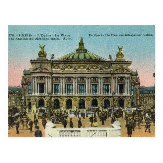 Cartão Postal Vintage Paris,    ópera
