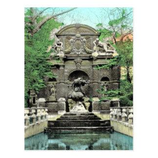 Cartão Postal Vintage Paris, Paris Jardins de Luxembourg