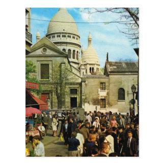 Cartão Postal Vintage Paris, Paris Montmatre, Lugar de Teatro