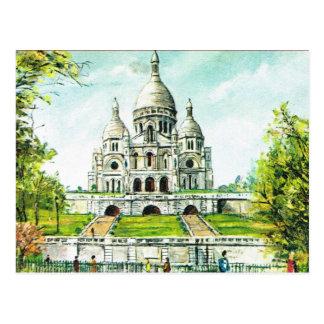 Cartão Postal Vintage Paris, Paris, Montmatre, Sacre Coeur