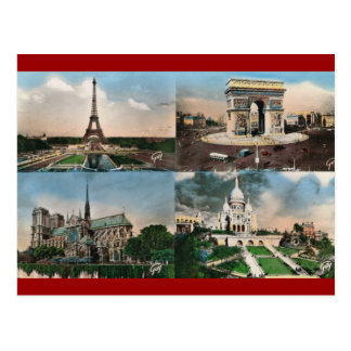 Cartão Postal Vintage Paris, Paris, Multiview