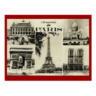 Cartão Postal Vintage Paris, Paris, multiview adiantado