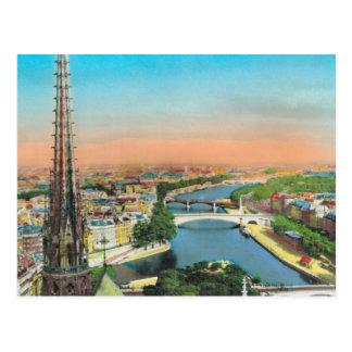 Cartão Postal Vintage Paris, rio Seine