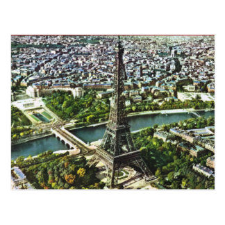 Cartão Postal Vintage Paris, torre Eiffel