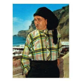 Cartão Postal Vintage Portugal, Nazare, pescador