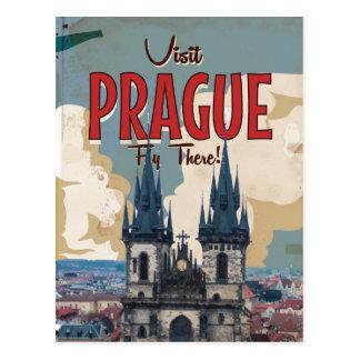 Cartão Postal Vintage Praga, poster de viagens da república