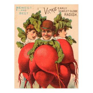 Cartão Postal Vintage: propaganda da agricultura -