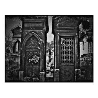 Cartão Postal vintage que olha o PIC do cemitério
