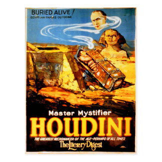 Cartão Postal Vintage raro mais mystifier mestre de Houdini