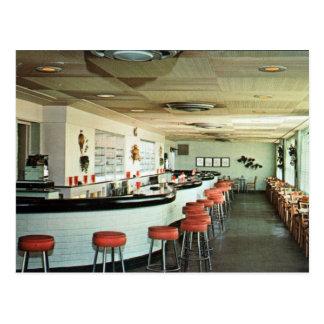 Cartão Postal Vintage retro do bar da sala de Bermuda