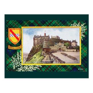 Cartão Postal Vintage Scotland, caçando Stewart Edimburgo