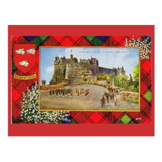 Cartão Postal Vintage Scotland, Robertson, castelo de Edimburgo
