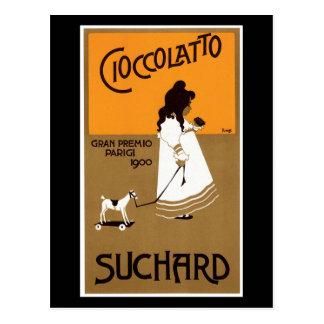 Cartão Postal Vintage Suchard Cioccolatto