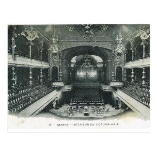Cartão Postal Vintage, suiça, Genebra, Victoria Salão