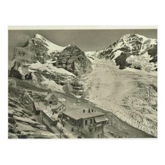 Cartão Postal Vintage, suiça, Jungfrau Joch, 1930